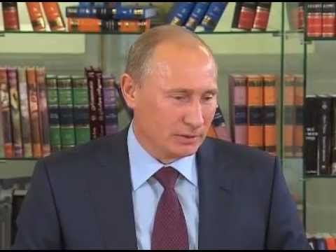 Vladimir Putin meets with Russian writers