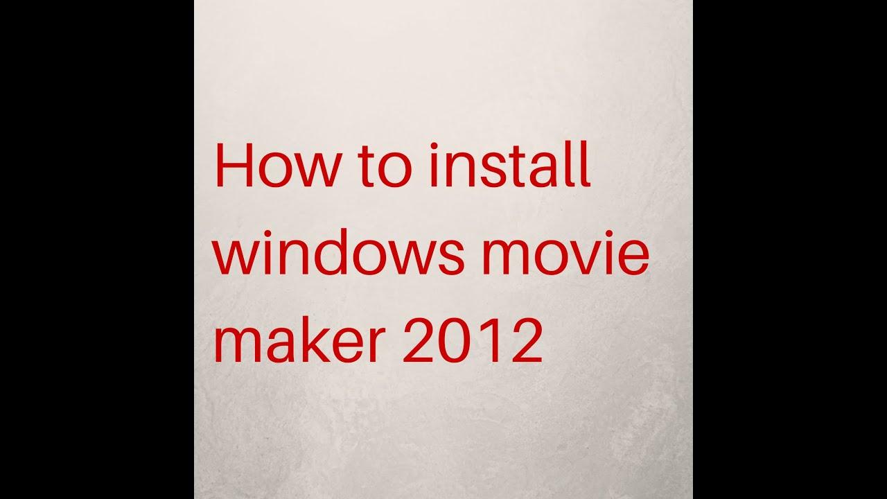 Reinstall movie maker 6