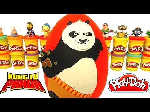 Huevo Sorpresa Gigante de Kung Fu Panda en Español Plastilina Play Doh
