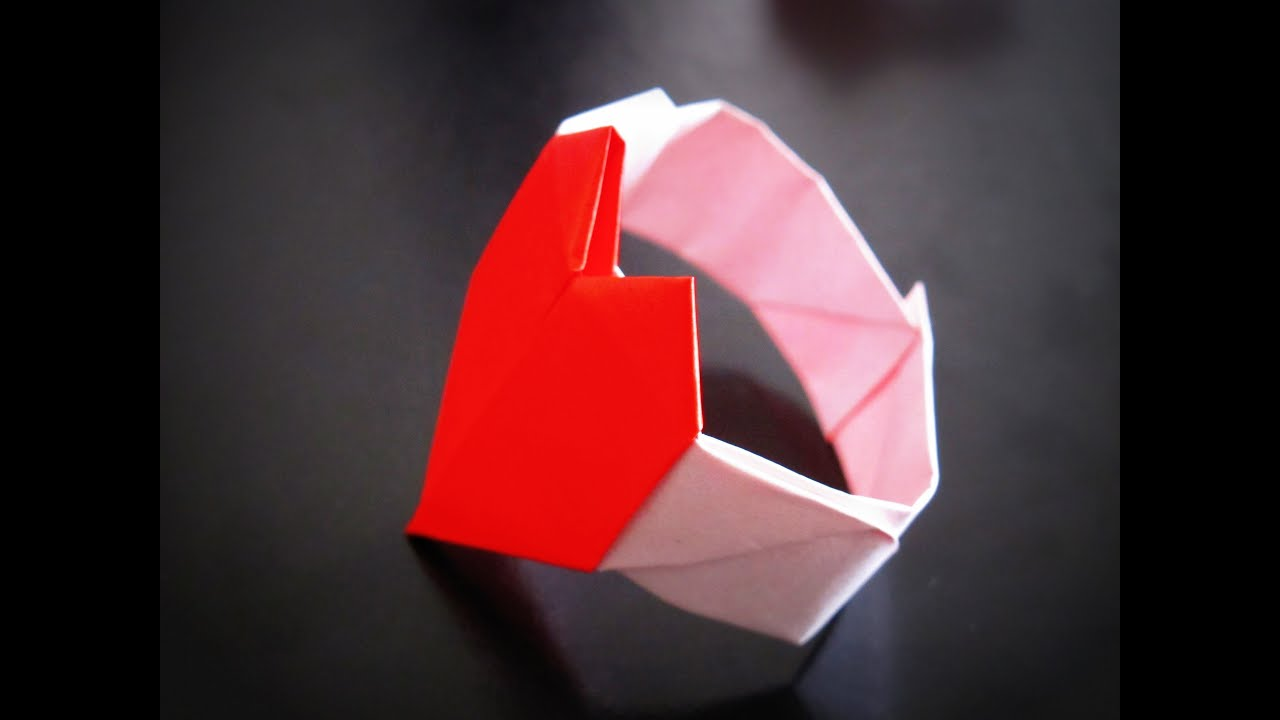 origami how to make a heartshaped bracelet bratara