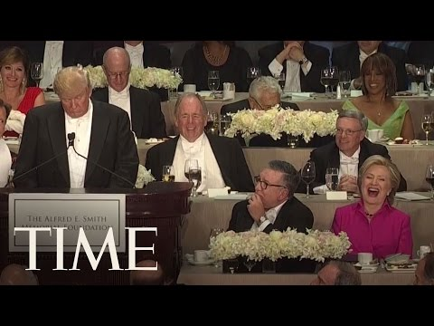 Trump And Clinton Trade Insults At Alfred E. Smith Memorial Foundation Dinner | TIME