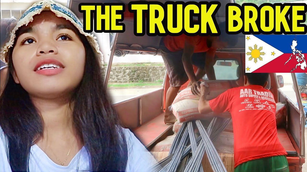 House Building in the Philippines   The truck got BROKEN   My NEW DAILY LIFE