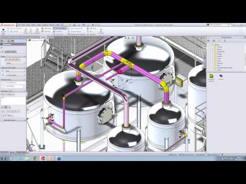 Creating Piping Automatically in SolidWorks