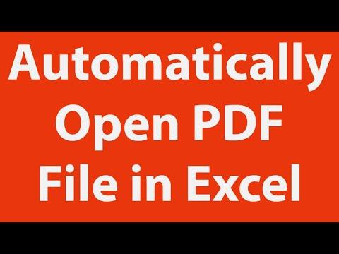 Open PDF File Using Excel VBA