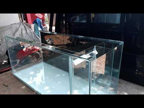 Model aquarium filter samping ukuran 120x50x50 kaca 12mili