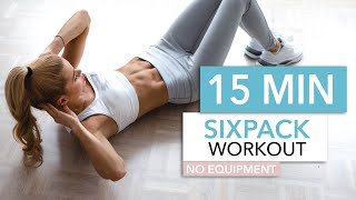 15 MIN SIXPACK WORKOUT - intense ab workout / No Equipment I Pamela Reif
