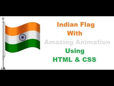 Happy Independence Day    Indian Flag Amazing Animation Using HTML And CSS