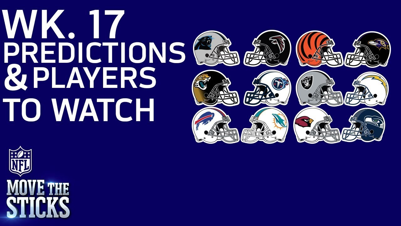 Nfl Game Picks Players To Watch In Week 17 Games With Playoff Implications Mts Nfl Network Youtube