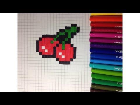 Comment Dessiner Une Cerise Pixel Art Youtube