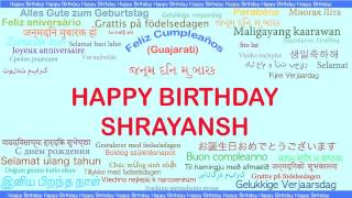 Shrayansh   Languages Idiomas - Happy Birthday