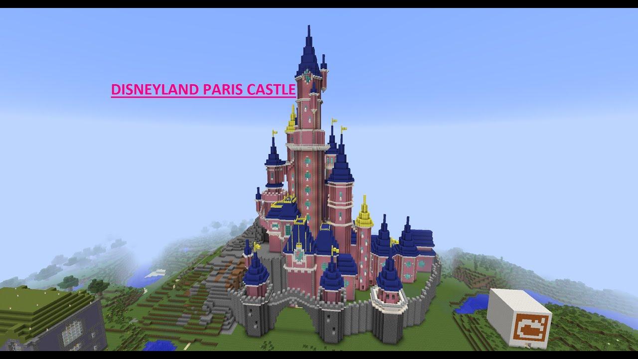 Free House Blueprints Minecraft Disneyland Paris Castle Youtube