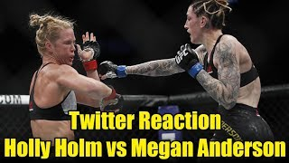 Holly Holm vs Megan Anderson Twitter Reaction