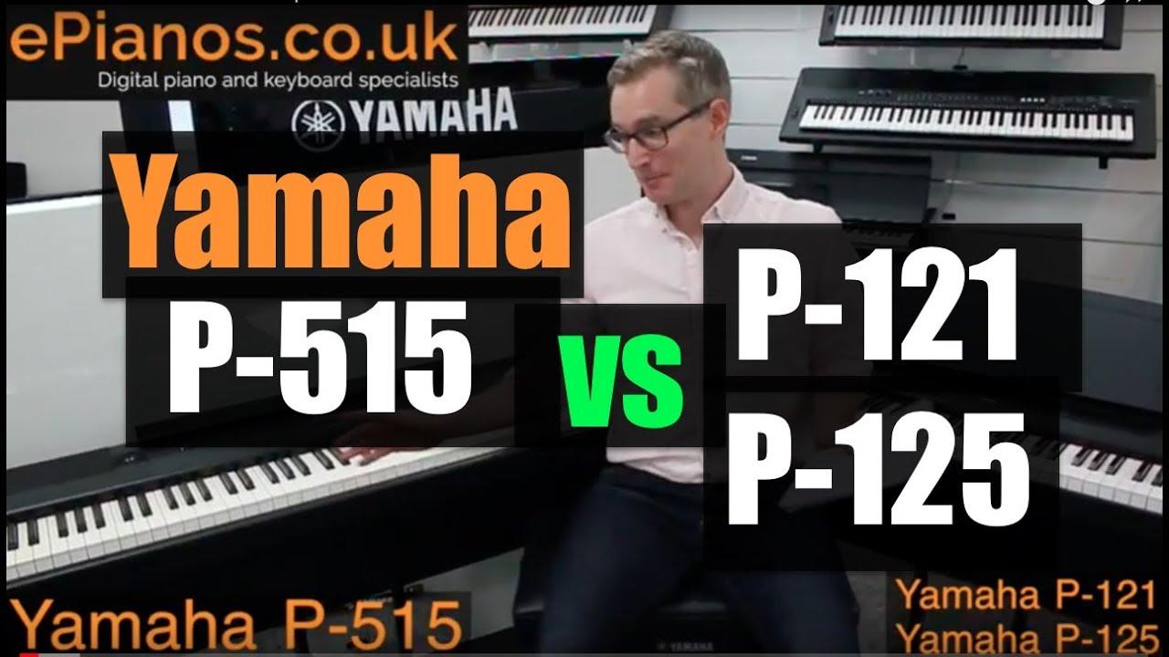 yamaha p515 vs p125 p121 comparison review youtube. Black Bedroom Furniture Sets. Home Design Ideas