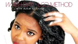 NATURAL HAIR | WASH DAY WITH ALIKAY NATURALS