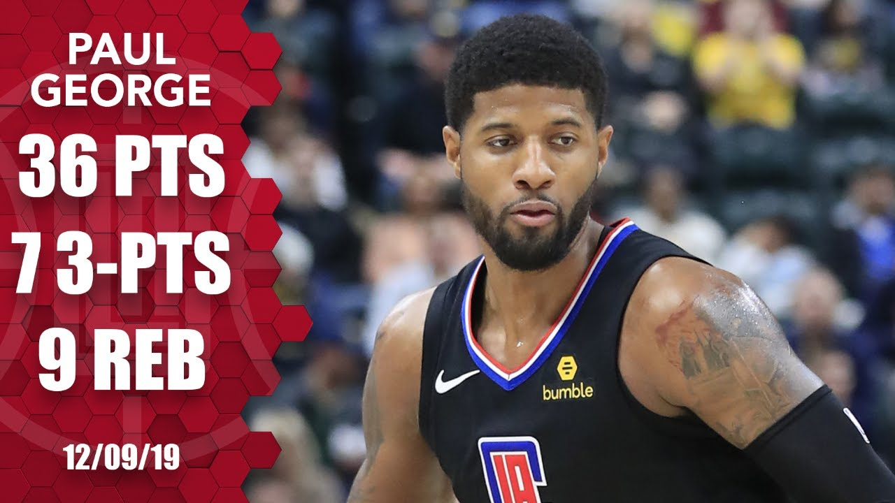 Paul George silences boos, scores 36 points vs. Pacers | 2019-20 NBA Highlights