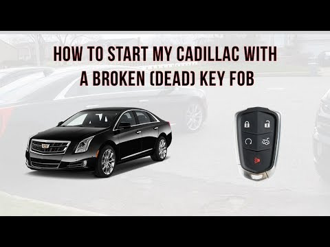 How to Start my Cadillac with a Broken or dead key fob - YouTube