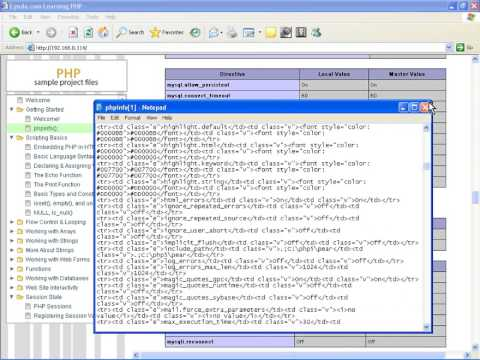 PHP Tutorial 9:- PHP Ini Phpinfo