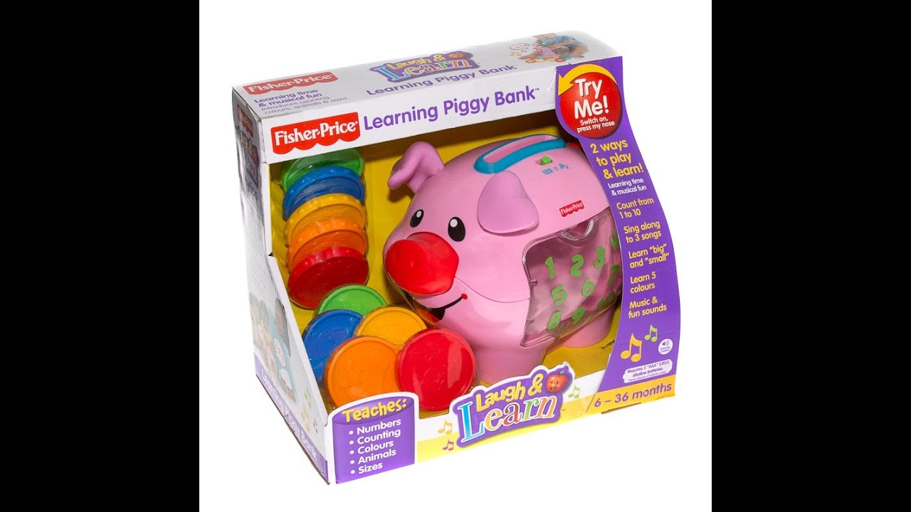 Fisher Price Learning Toys : Fisher price laugh learn learning piggy bank baby toy
