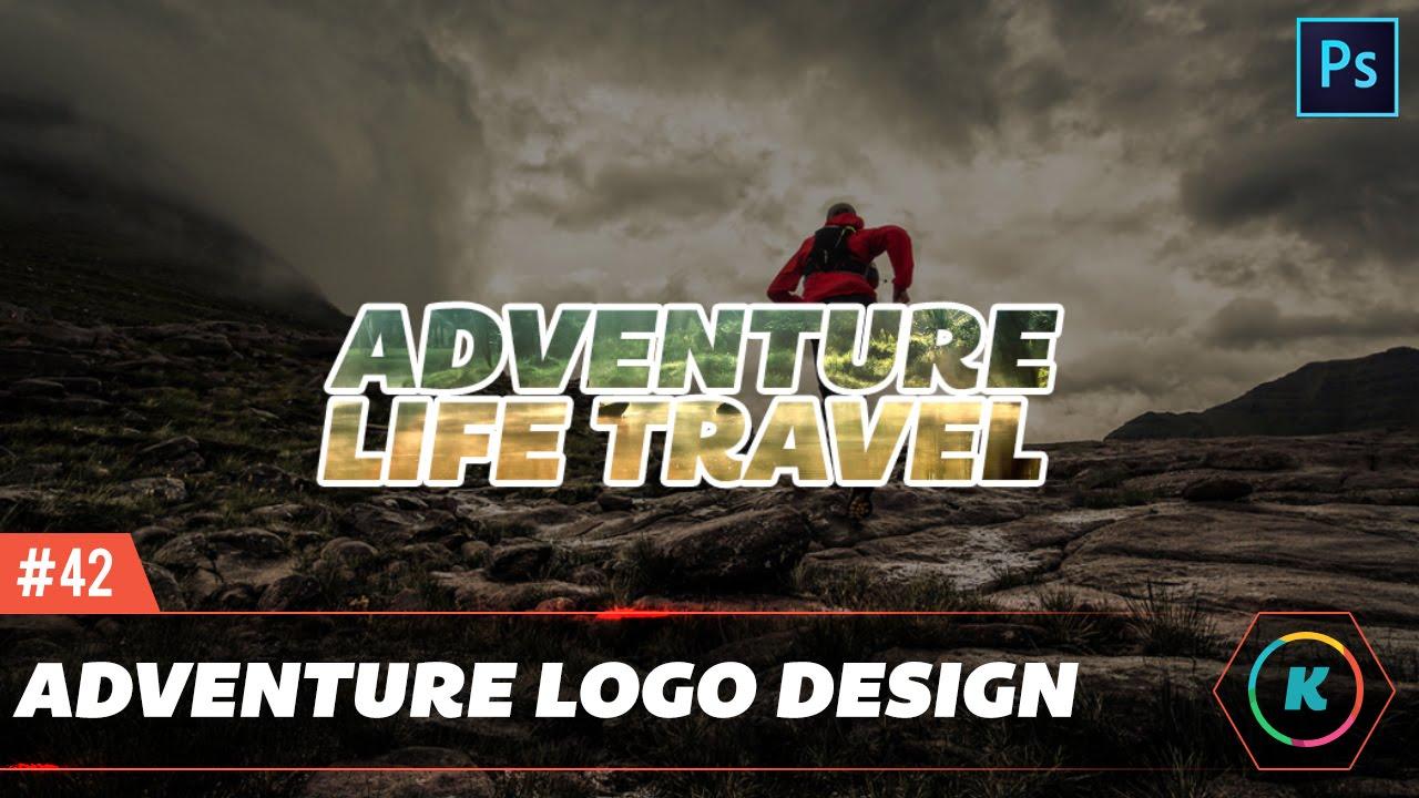 Adventure Travel Logo Design Photoshop Tutorial For