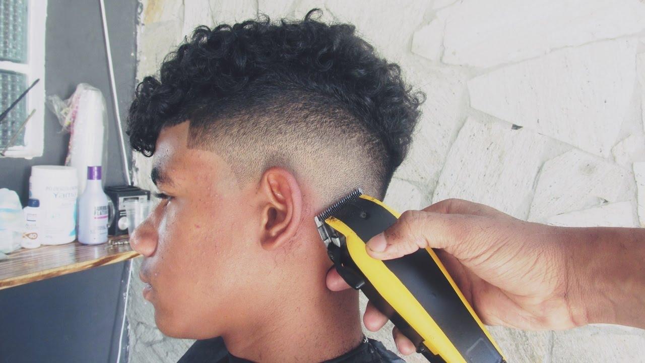 Corte De Cabelo Masculino Degradê Low Fade Clássico Para Cachos Barbearia Do Lucas