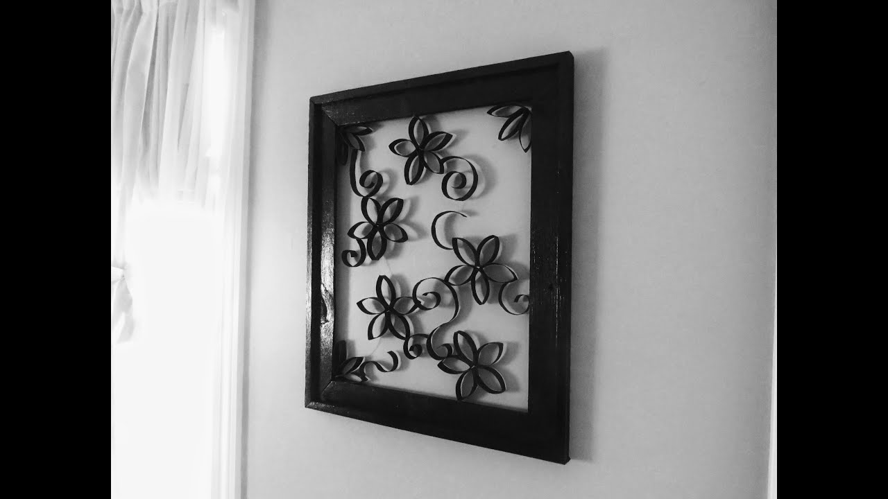 Toilet Paper/Paper Towel Roll Wall Decor - YouTube