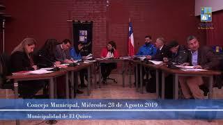 Concejo Municipal miércoles 28 de agosto 2019 (parte 1)