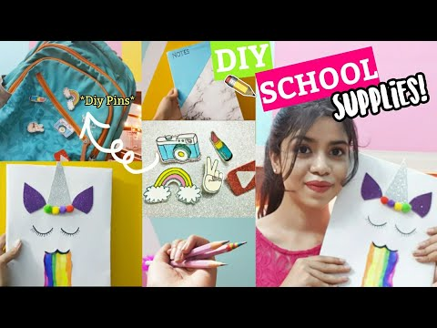 5 DIY School Supplies for STUDENTS/TEENAGERS! #Hacks #School #Crafts | Notebooks,Bookmarks,Pins etc.