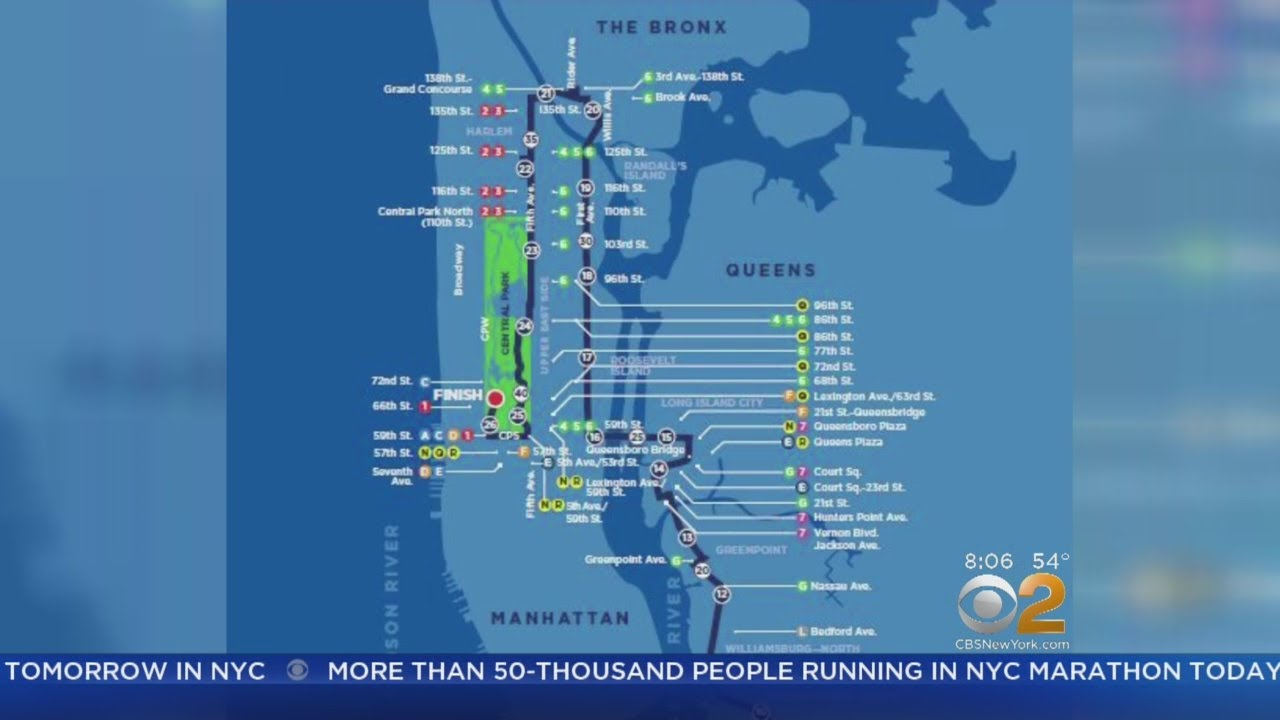 Map Of New York Marathon 2017.Full List Of Street Closures For 2017 Tcs New York City Marathon