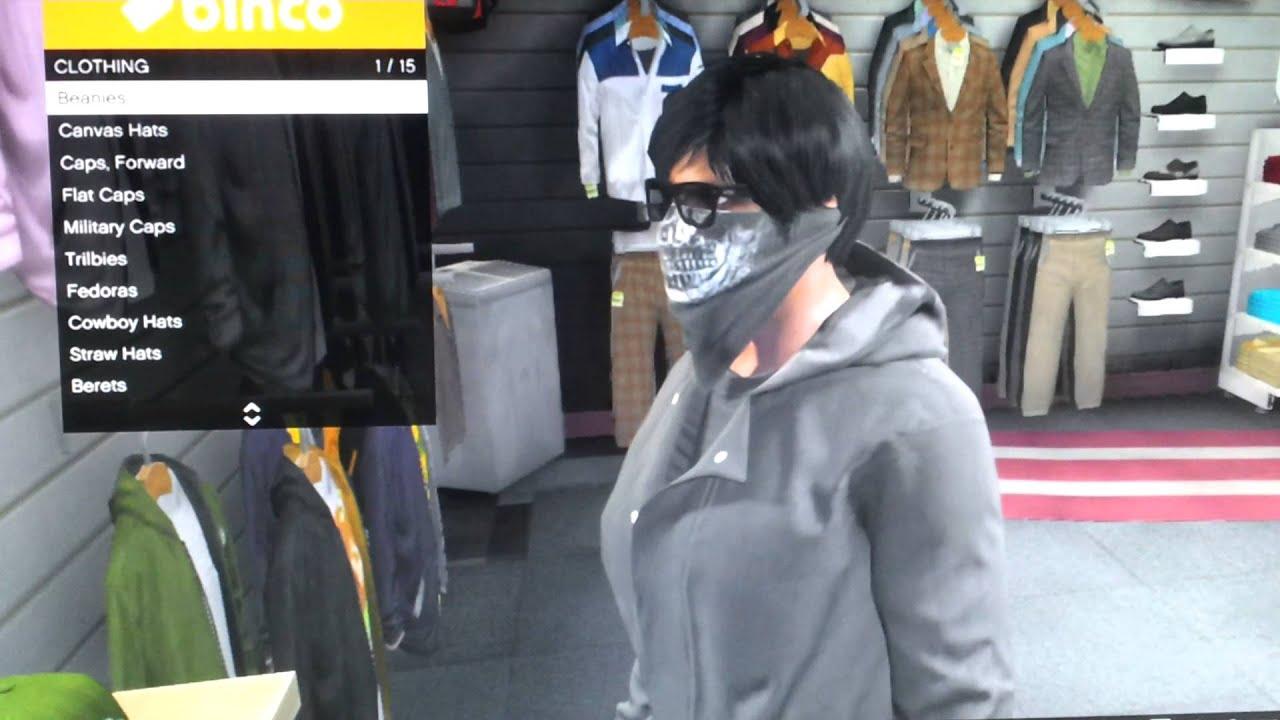 GTA V How To Wear Just The Face Bandana