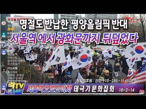락TV- 2-14 서울역 태극기문화행사 ,평양올림픽 반대