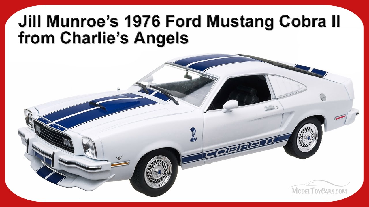 1976 ford mustang cobra ii from charlie s angels greenlight 12880 1 18 scale diecast car youtube