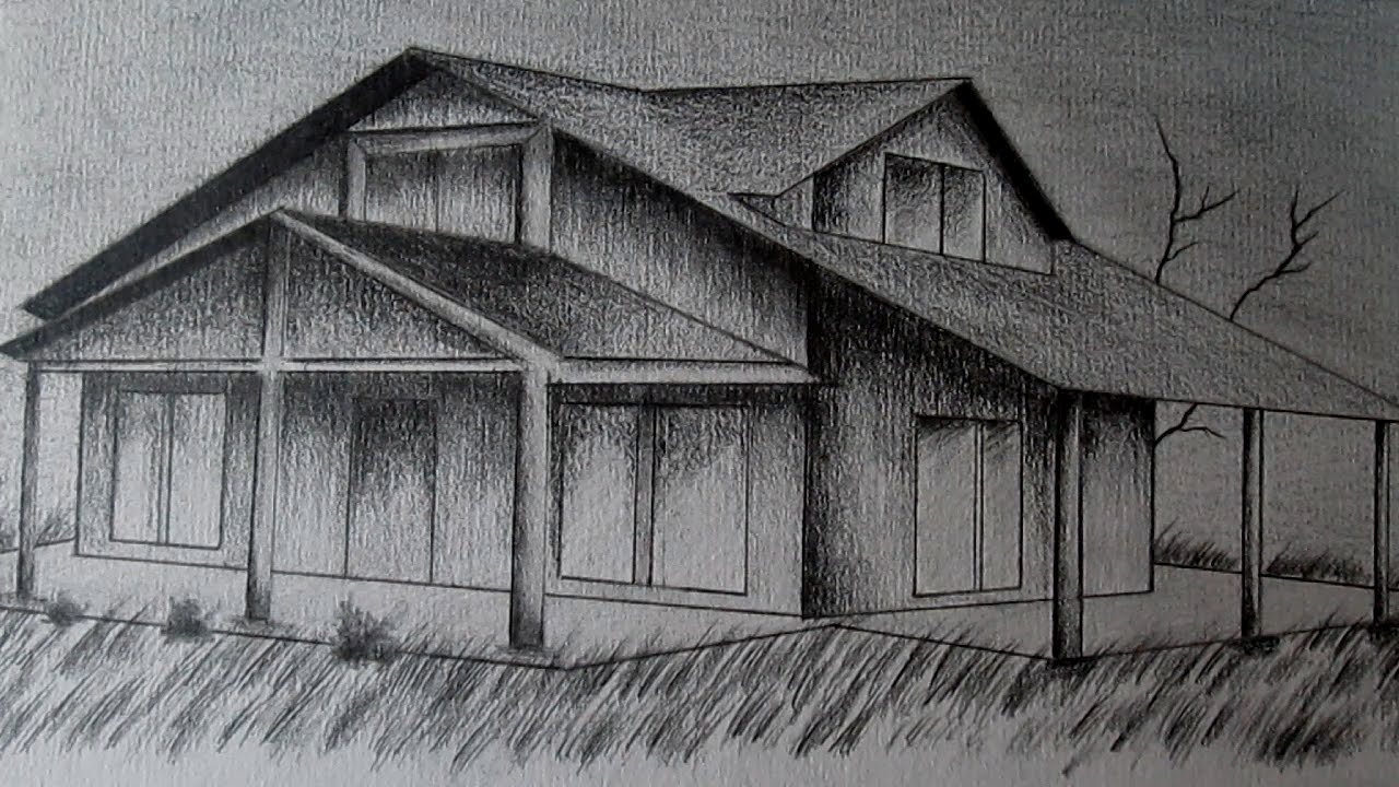 c mo dibujar una casa en perspectiva paso a paso aprender