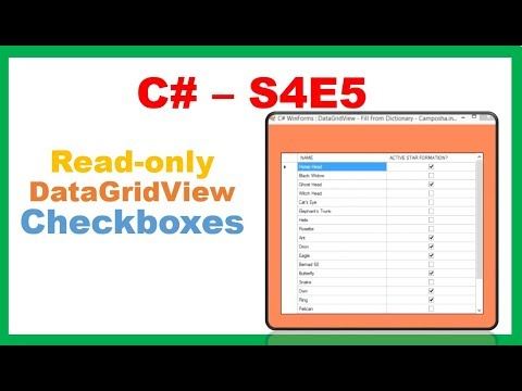 C# S4E5 : Readonly DataGridViewcheckBox and CellClicks