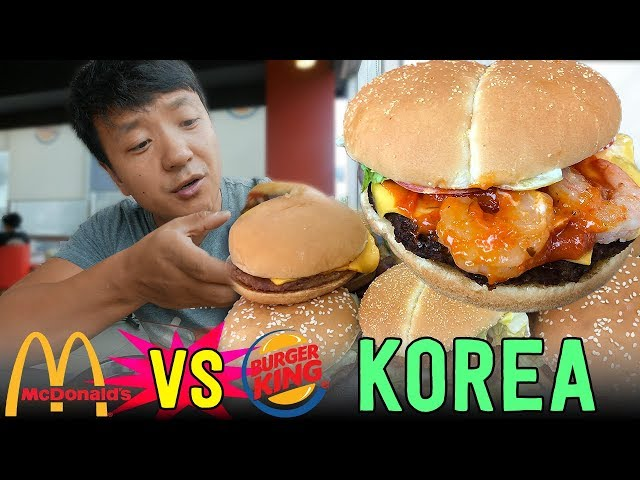 KOREAN McDonalds VS. Burger King in Seoul South Korea