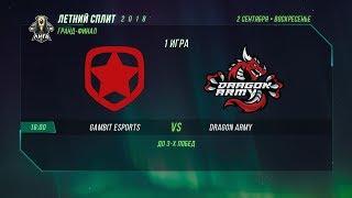 DA vs GMB — Гранд-финал, Игра 1