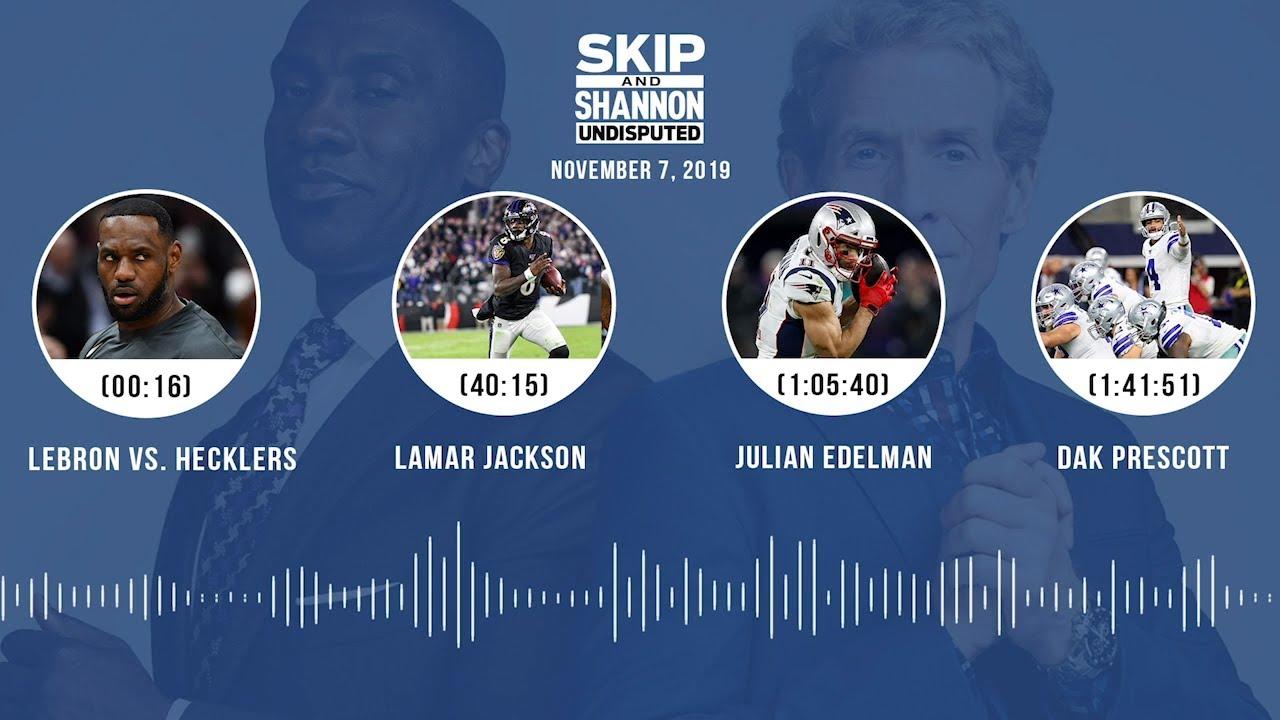 LeBron vs. hecklers, Antonio Brown, Heisman race (Full Show) Audio Podcast