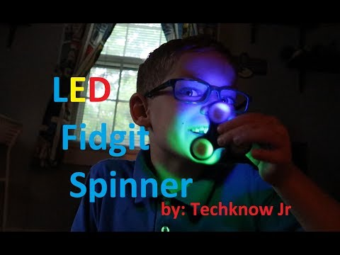 LED Fidgit Spinner Unboxing/Review by Techknow Jr