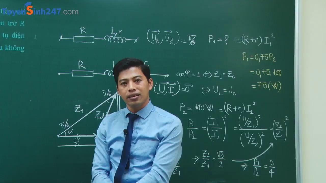 Sử dụng giản đồ vecto giải bài tập về điện xoay chiều -Lớp 12 – Môn Vật Lý- Thầy giáo Phạm Quốc Toản