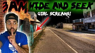 DO NOT PLAY HIDE AND SEEK AT 3 AM | PLAYING HIDE AND SEEK AT 3 AM (I CANT BELIEVE WHAT HAPPENED)