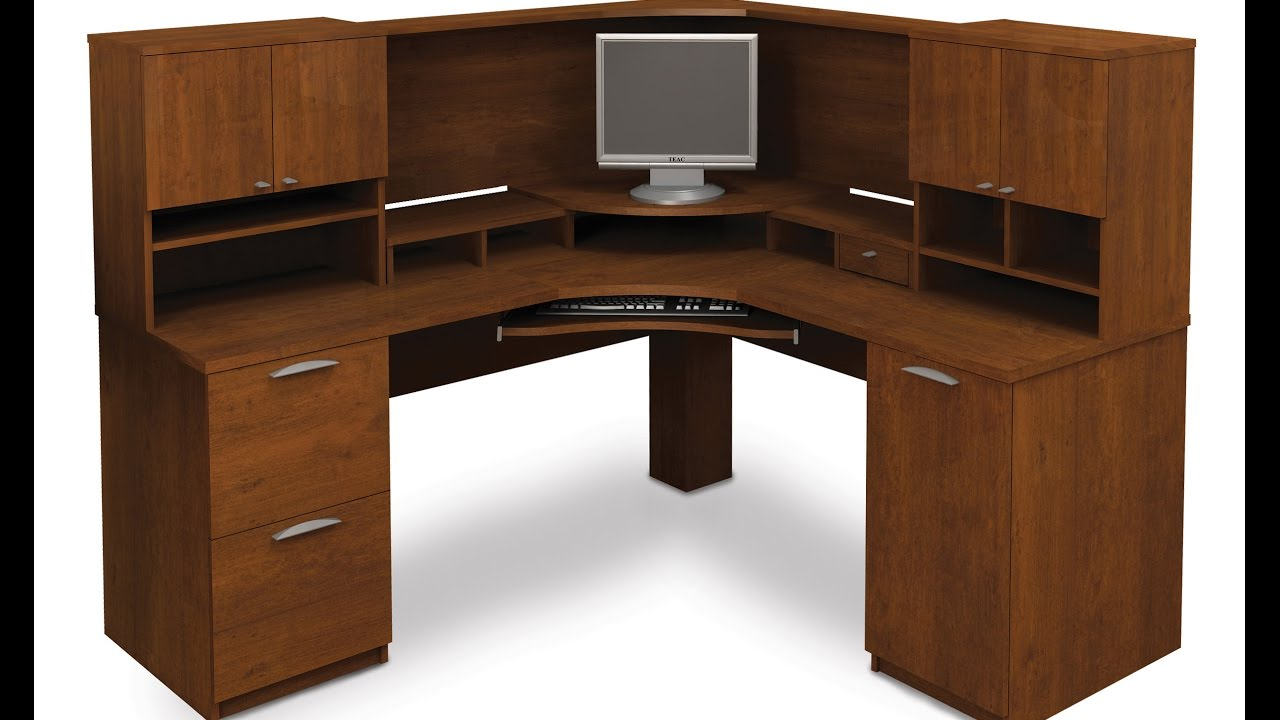 Valuable Corner Desk With Drawers For Modern Office Furniture