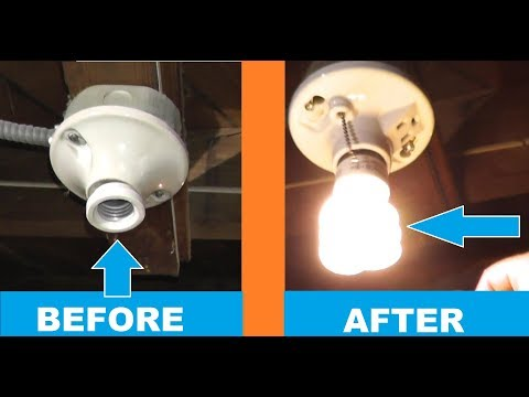 how-to-replace-a-ceiling-light-|-ceiling-receptacle-replacement