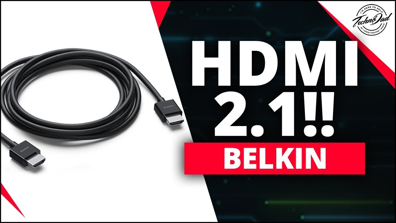Hdmi 2 1 Spec Belkin Ultra High Speed Hdmi Cable Youtube