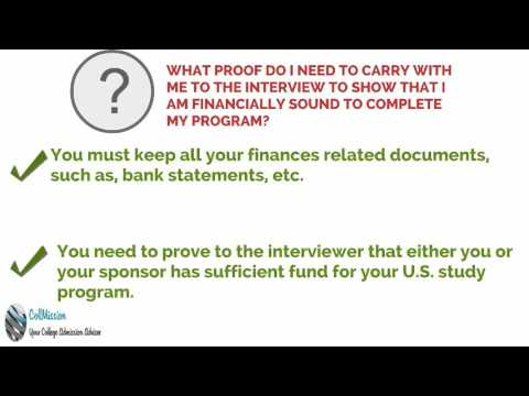 Proof of Financial Ability – Student Visa Interview Question
