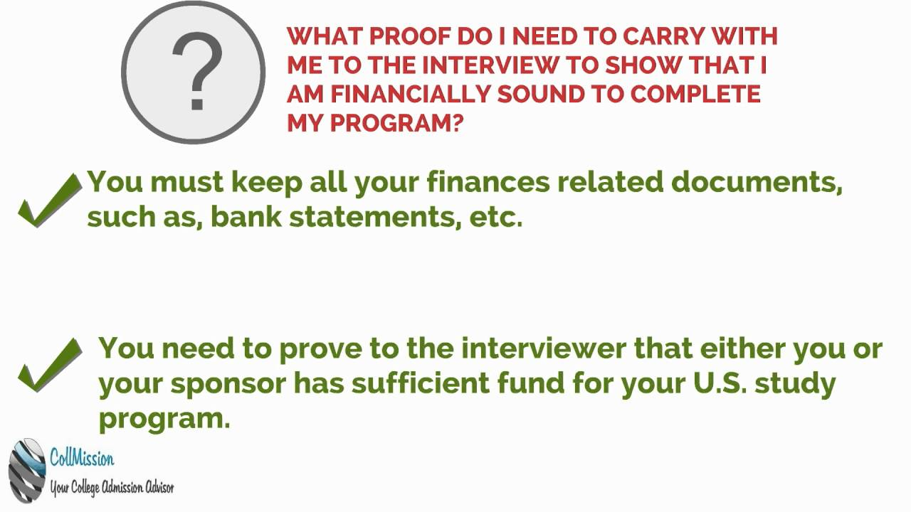 proof of financial ability student visa interview question proof of financial ability student visa interview question
