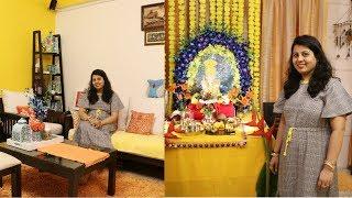 Ganpati Festival Home Decoration Ideas | Indian Home Decor Living Room | Maitreyee's Passion Vlog