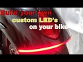 How To Customize Motorcycle LED Lights / Dual Voltage and Brightness For Tail Lights