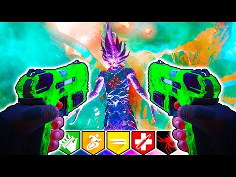 ALL ZOMBIES EASTER EGGS!   STARTING PISTOL ONLY!   BLACK OPS 3 ZOMBIES