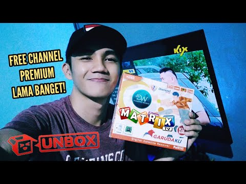 UNBOXING REVIEW DECODER MOLAMATRIX GARUDAKU ORANGE VERSI OTA TERBARU CBAND & KUBAND