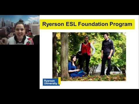 Ryerson ESL Foundation Program: Webcast February 17, 2016