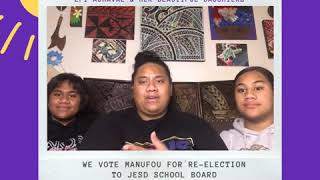 Epi Aumavae Votes Manūfou for Jefferson Elementary School District School Board